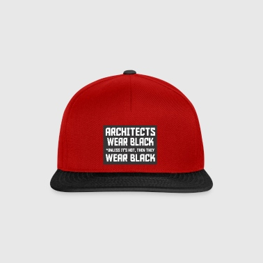 architect wear black dark - Snapback Cap