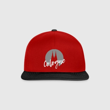 Cologne Cologne Cologne Cathedral with modern writing - Snapback Cap