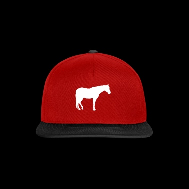 Horse Rider Love Illustration Bianco - Snapback Cap