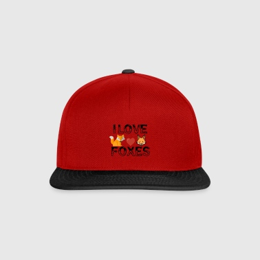 I love foxes - Snapback Cap