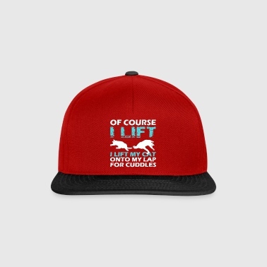 Funny I Lift My Cat T-shirt Gift - Snapback Cap