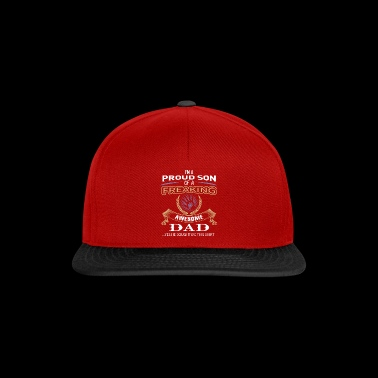 ++ Proud son of a awesome dad ++ gift son child - Snapback Cap