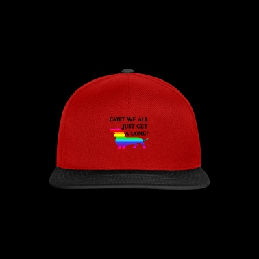 Can't we all just get a long? - Snapback Cap