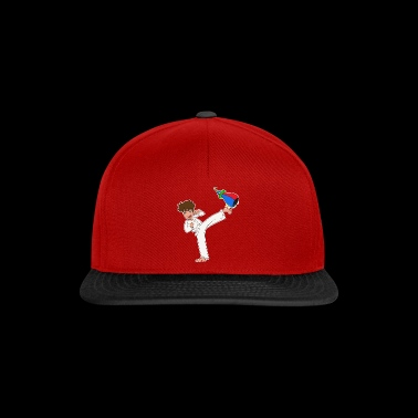 Dibujos animados karate boy kick regalo idea - Gorra Snapback