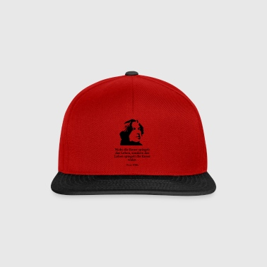 Wilde: Not art reflects life, but - Snapback Cap