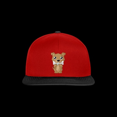 Nibbling cartoon dog - Snapback Cap