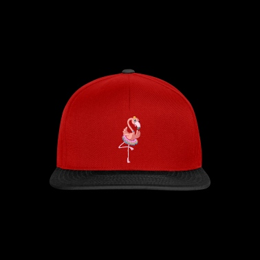 Dancing cartoon flamingo - Snapbackkeps