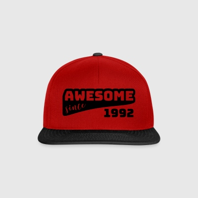 Awesome since 1992 / Birthday-Shirt - Snapback Cap