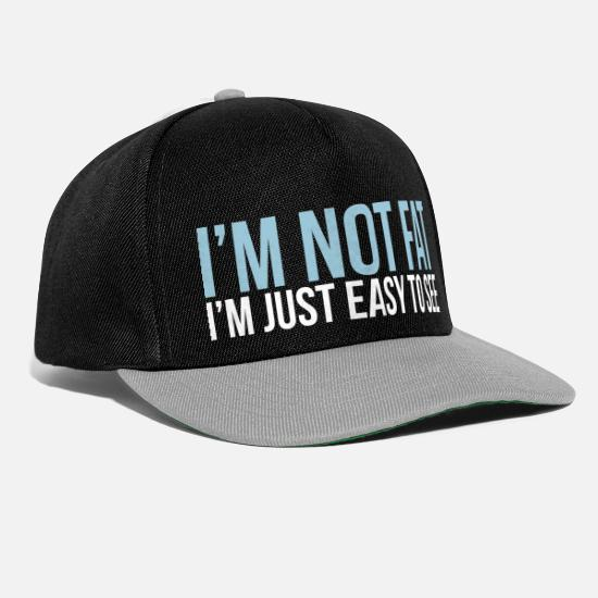 Awesome Caps & Hats - im not fat - Snapback Cap black/grey