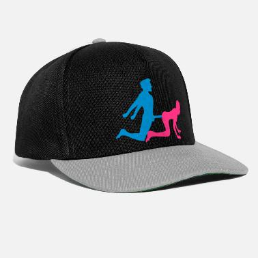 Woman woman female doggy style from behind 2 pairs paerch - Snapback Cap