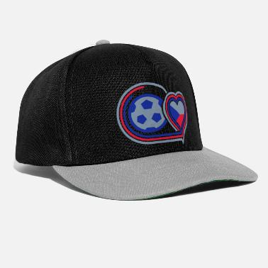 Support Czech Republic (football & heart) - Snapback Cap