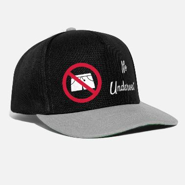 View Underwear no underwear funny underwear as a vector graphic - Snapback Cap
