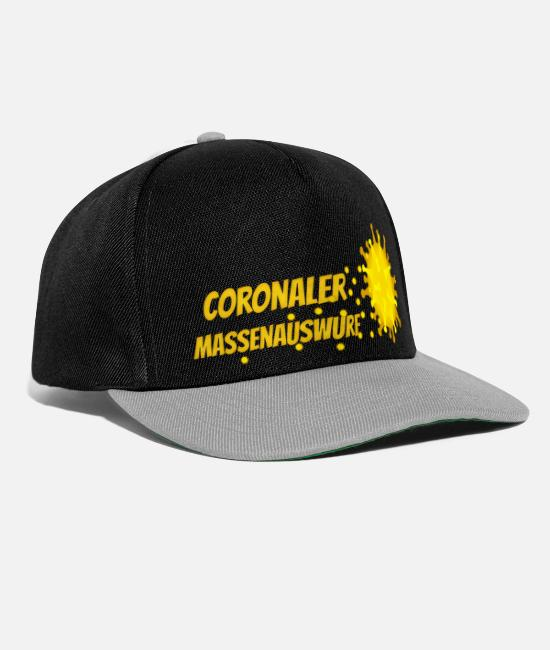 Influenza Caps & Hats - Coronal mass throwing - Snapback Cap black/grey