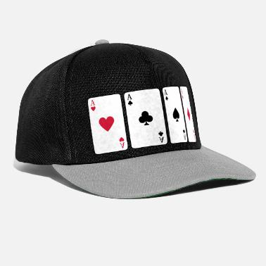 Pique Card Game, Poker, Ace - Casquette snapback