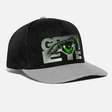 Green eye pupil universe design font Hulk - Snapback Cap b6cf0fa8d021