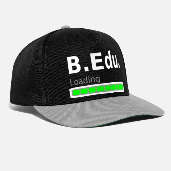 Gift Idea Caps & Hats - Bachelor of Education degree degree - Snapback Cap black/grey