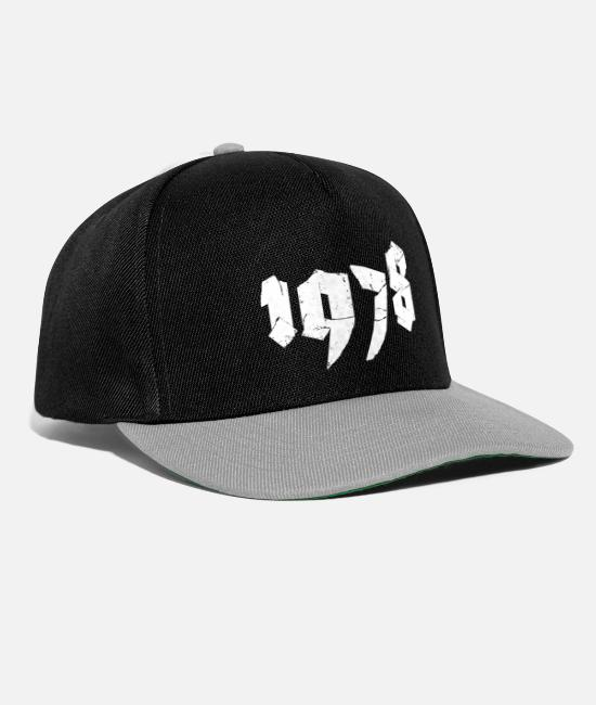 Digit Caps & Hats - Jahr 1978 - Snapback Cap black/grey