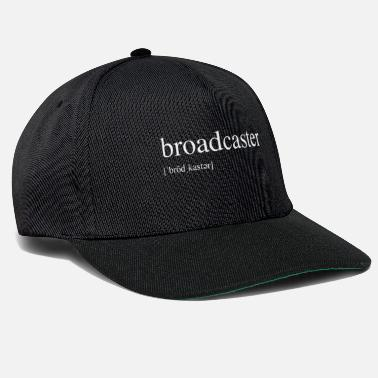 Broadcast Broadcaster [pronounced] - White Edit - Snapback Cap