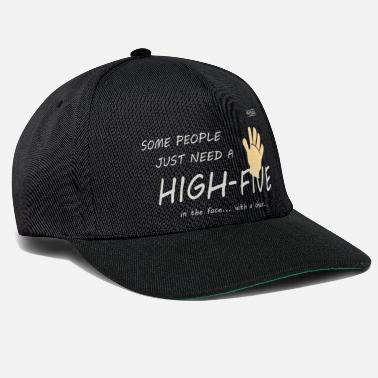 Moron Some people just need a high five - Snapback Cap