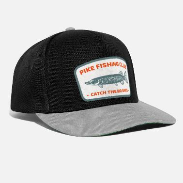 Club Cooles Pike Fishing Club Angel Retro Geschenk - Snapback Cap