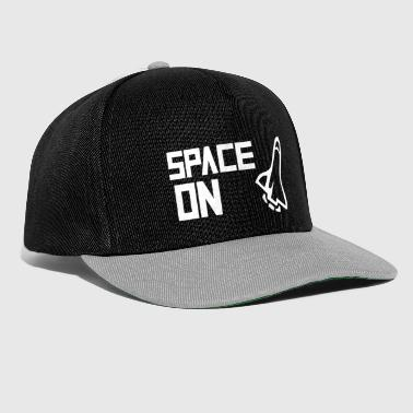 Rakete Space on weiß - Snapback Cap
