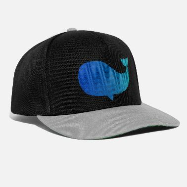 Wale wale from waves and sea - Snapback Cap
