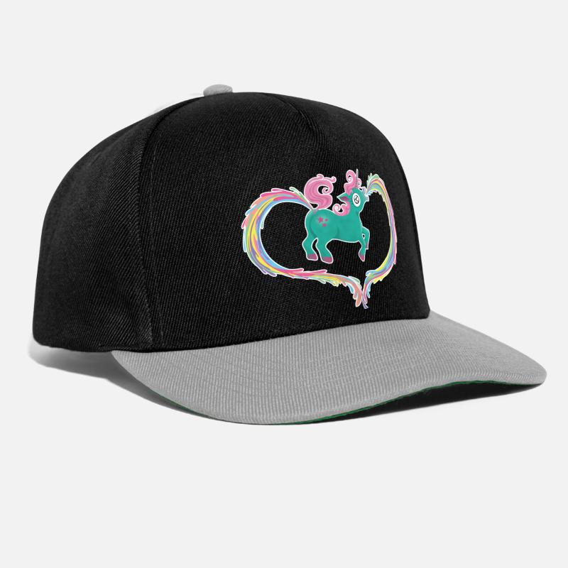 Unicorn Caps & Hats - Unicorn - Snapback Cap black/grey