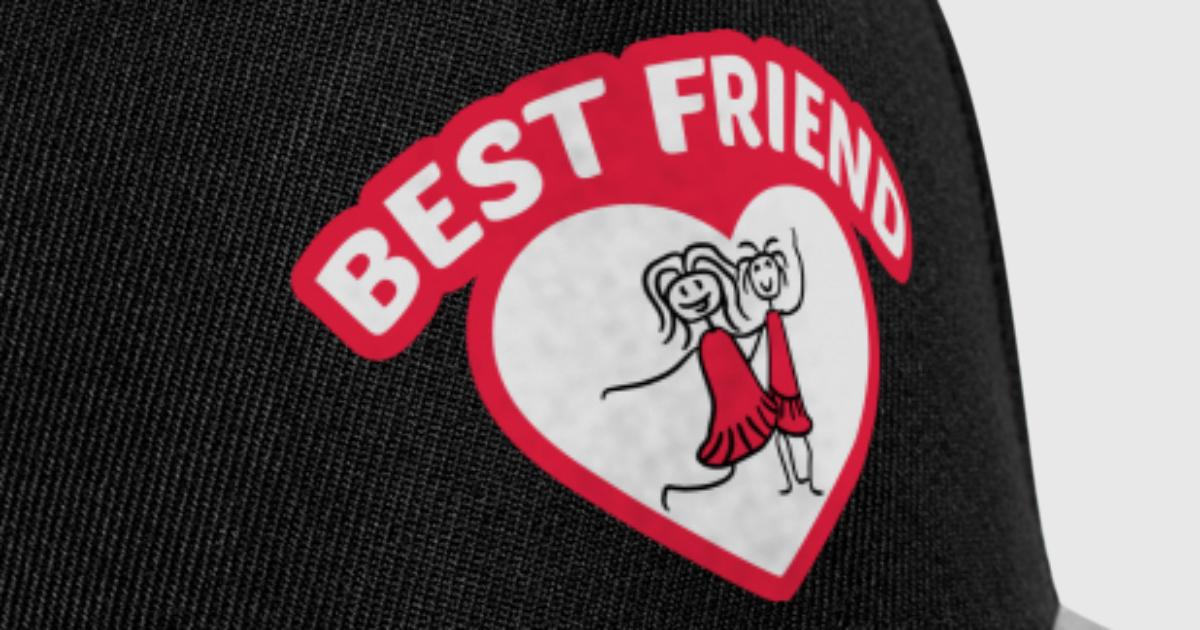umriss rahmen herz best friends text logo freunde von Style-o-Mat ...
