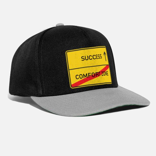 Career Caps & Hats - End of the comfort zone the beginning of success - Snapback Cap black/grey