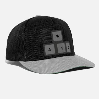 WASD Gamer Keyboard Finger position - Snapback Cap