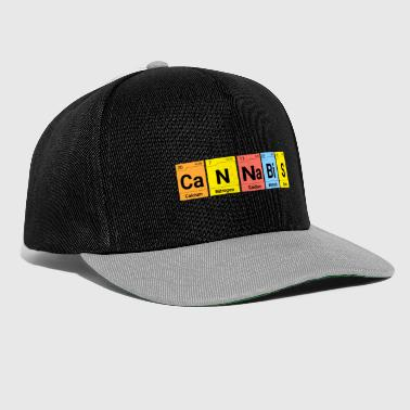 Weed Cannabis Chemistry Periodic Table - Snapback Cap