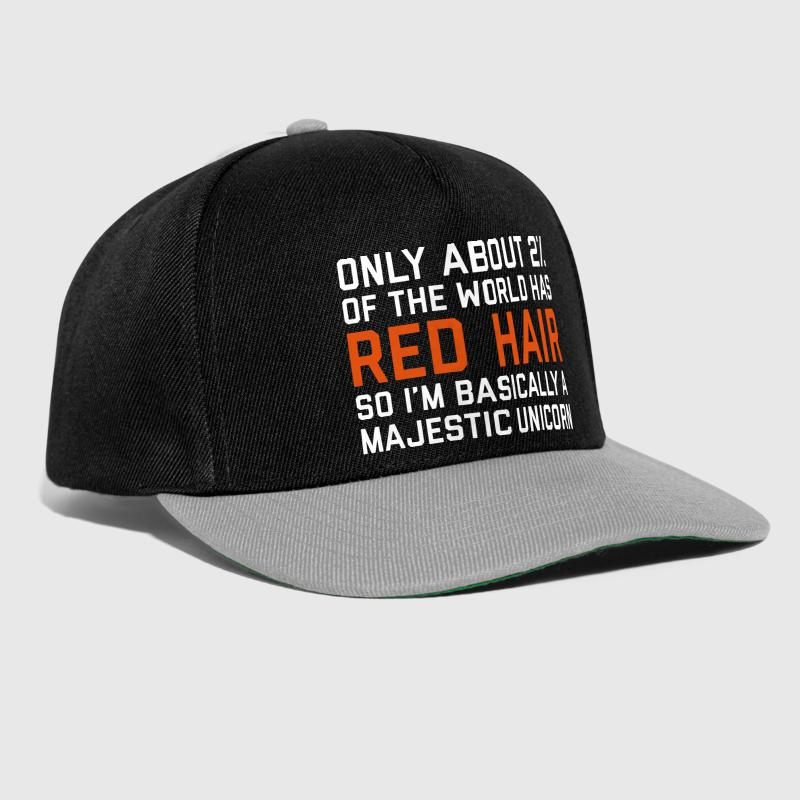 Red Hair Funny Quote - Snapback Cap