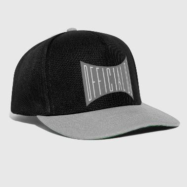 distorted official dj shield text write area - Snapback Cap