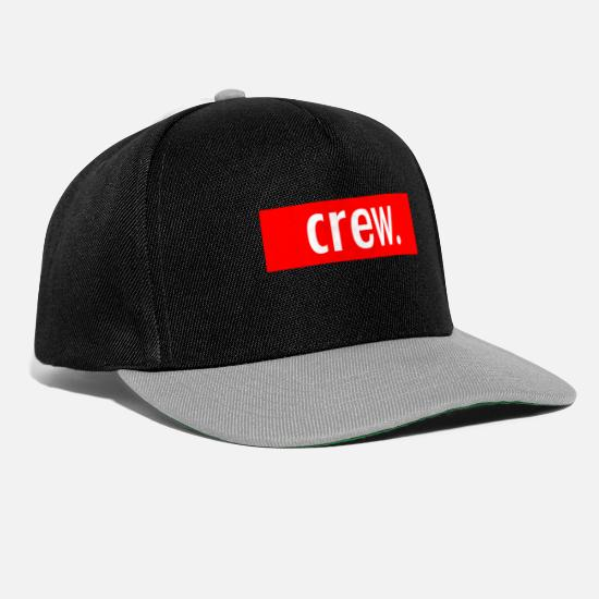 Blogger Caps & Hats - crew. - Snapback Cap black/grey