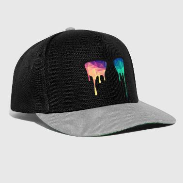 Abstract Psychedelic Nerd Glasses with Color Drops - Czapka typu snapback
