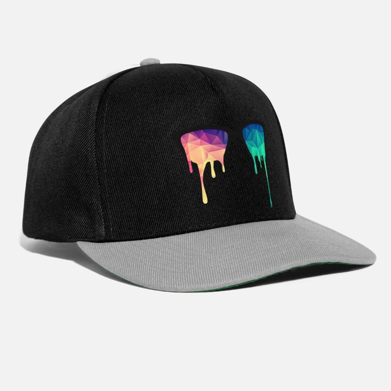 Bestsellers Q4 2018 Casquettes et bonnets - Abstract Psychedelic Nerd Glasses with Color Drops - Casquette snapback noir/gris