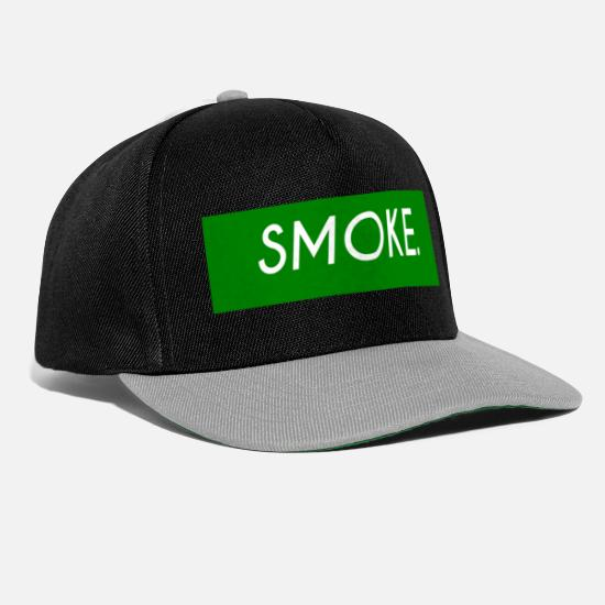 Hemp Caps & Hats - smoke - Snapback Cap black/grey