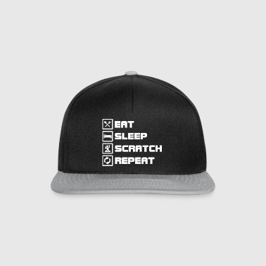eat sleep scratch repeat DJ - Snapback Cap