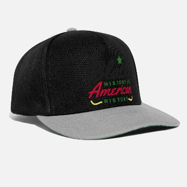 Social Justice Black History Month saying African American America - Snapback Cap