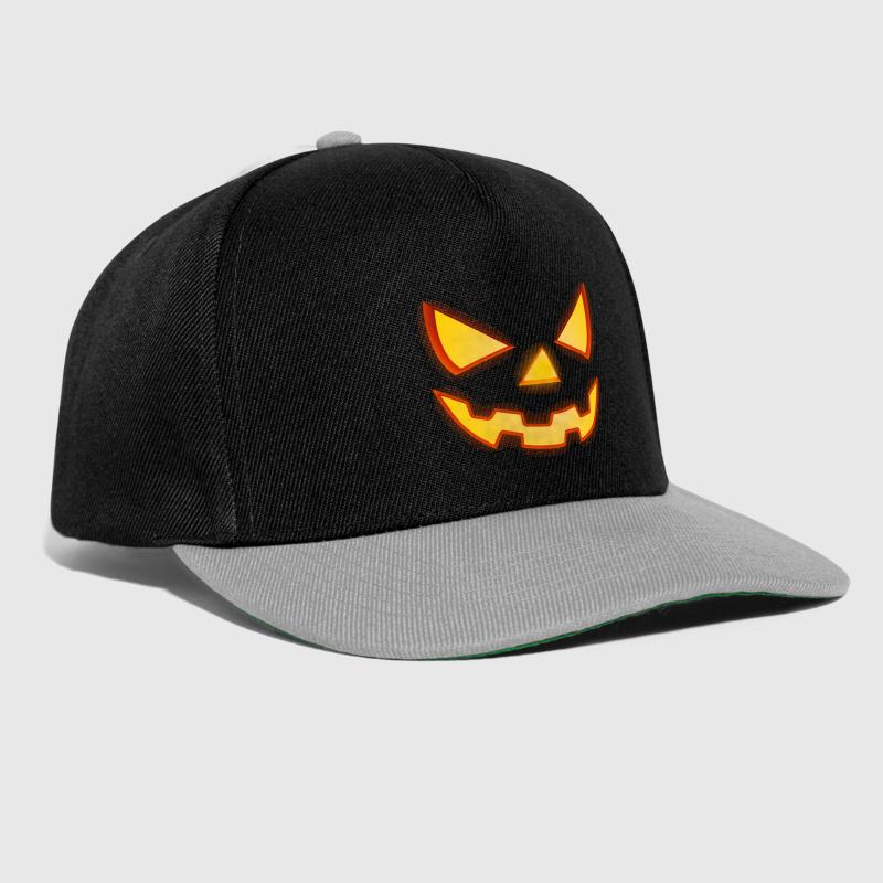Scary Halloween Horror Pumpkin Face - Snapback Cap