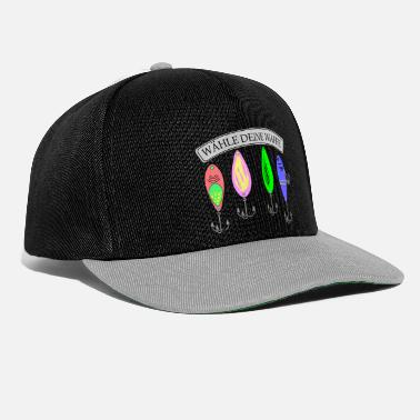 Fishing Saying, Angel T-paita, Angler, Predator - Snapback-lippis