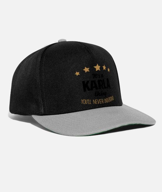 Never Caps & Hats - It's a karla name thing stars never under - Snapback Cap black/grey