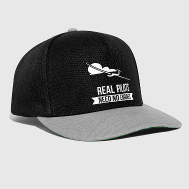 Real Pilots Need No Engines Segelflug Fliegen - Snapback Cap