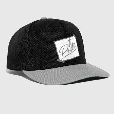 note memo think think positivo positivo bl - Snapback Cap