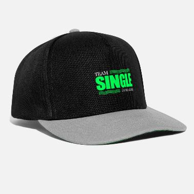 Single Single single bachelor single love - Snapback Cap