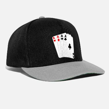 Ace-of-spades Four ace pik cross diamonds heart playing cards - Snapback Cap