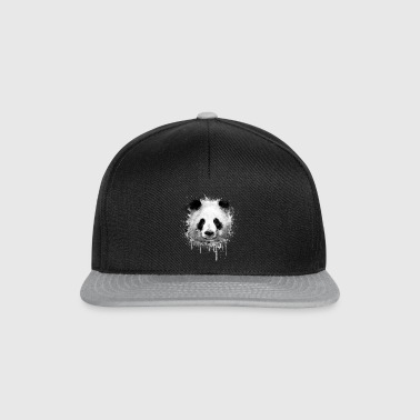 Cool Artistic Panda Portrait ( watercolor design) - Snapback Cap