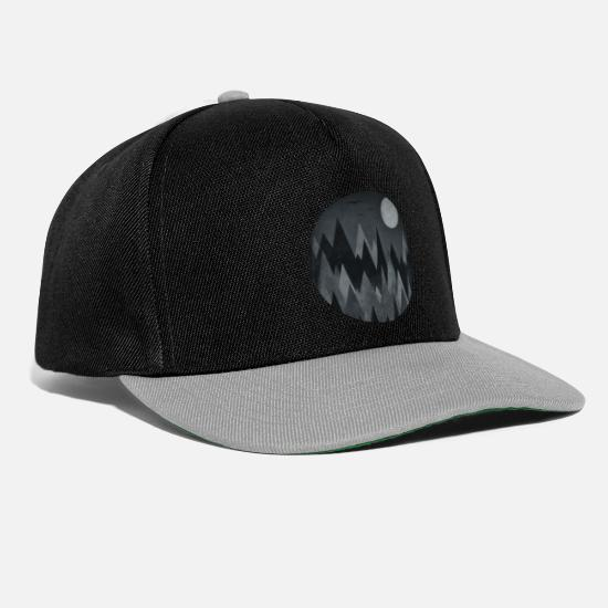 Halloween Cappelli & Berretti - Black & White Triangles Abstract mountains design - Cappello snapback nero/grigio