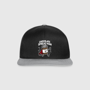 Chocolate spread man (place on dark background) - Snapback Cap
