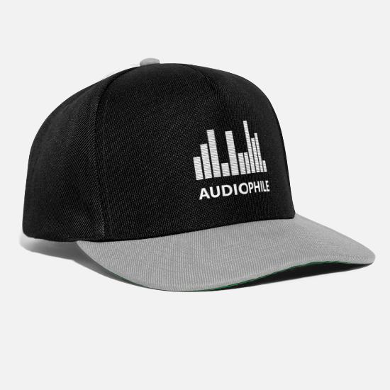 Gift Idea Caps & Hats - Audiophile Amplifier - Snapback Cap black/grey
